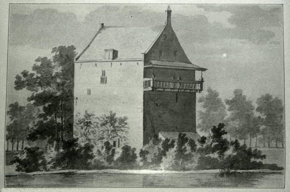 Engelrode in Zoelmond. Tekening Abraham de Haen, ca. 1750
